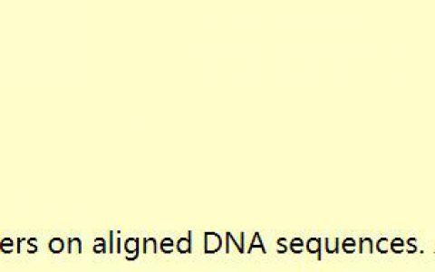 Amplicon 在对齐的DNA序列组上设计PCR引物