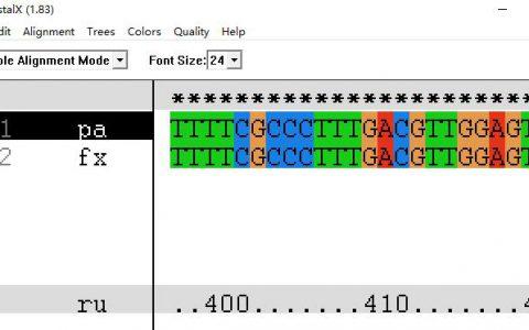Clustal:多序列比对分析、序列同源性分析